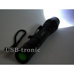 Ручной аккумуляторный фонарь MX-8668 2 батарейки 18650
