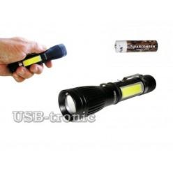 Ручной аккумуляторный фонарь MX-545-T6 светодиоды Cree XML T6 и СOB
