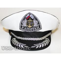 Капитанская фуражка. Кокарда серебряная. №2