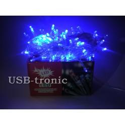 Гирлянда светодиодная N 100 LED Синий свет