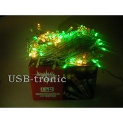 Акция! Гирлянда светодиодная M 300 LED Многоцветная Прозрачный провод 10 метров