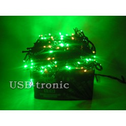 Гирлянда WТS светодиодная 300 LED Многоцветная черный провод 15 метров
