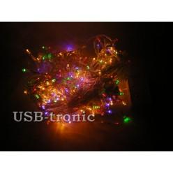 Гирлянда WТS светодиодная 500 LED Многоцветная Прозрачный провод 25 метров