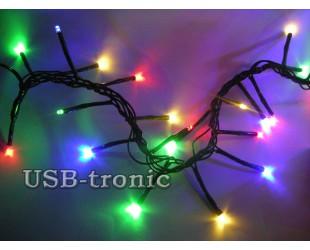 """Яркая новогодняя  гирлянда """"Фейерверк"""" 240 LED Цветные огни"""