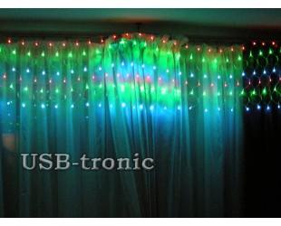 """Гирлянда """"Сетка"""" для декора комнаты 3 х 0,5 м. 160 светодиодов"""