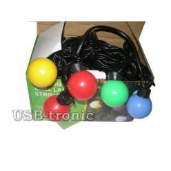 """Светодиодная гирлянда """"Цветные шарики 4 см."""" 20 шт.  5 метров"""
