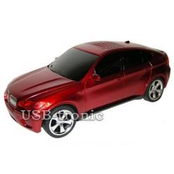 "USB колонка машинка ""BMW X6"" красная"