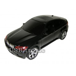 """USB колонка машинка """"BMW X6"""" черная"""