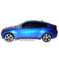 """Портативная колонка мр3 плеер машинка """"BMW X6"""" Синяя Глянец"""
