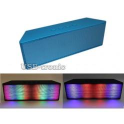 Bluetooth акустика  c USB и TF Цветомузыка. Ярко синий корпус. НЕТ В НАЛИЧИИ