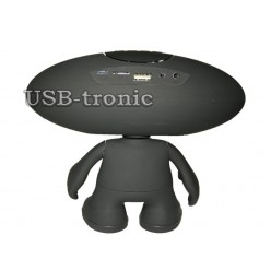 """Bluetooth колонка """"Человечек Rugby Q30A"""" с  цветомузыкой и мп3 плеером Black"""