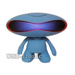 "Портативная колонка с Bluetooth ""Человечек Rugby Q30A"" с mp-3 (синяя)"