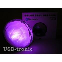 Колонка Bluetooth c USB Q8 Цветомузыка Black