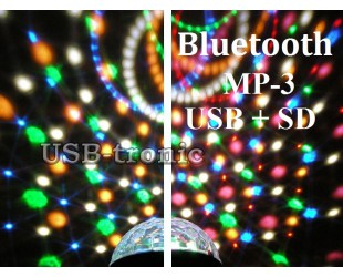 "Диско шар  ""Сфера"" цветомузыка c блютуз с MP3 плеером  (USB-SD)"
