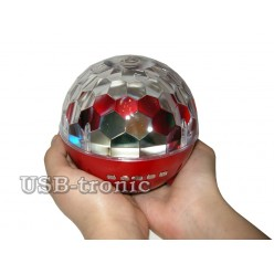 "Диско-шар ""Мини Сфера"" с аккумулятором и MP3 и FM"