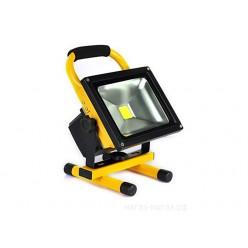 Переносной прожектор светодиодный 20W с литиевым аккумулятором