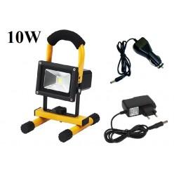 Переносной светодиодный прожектор фонарь 10Вт  24 Led Встроенный литиевый аккумулятор