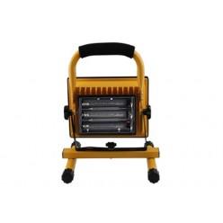 Переносной светодиодный прожектор фонарь 10Вт 3 литиевые батарейки