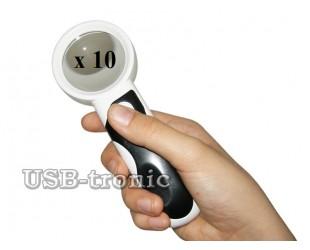 Увеличительная лупа с подсветкой c 10 кратным увеличением 2LED Detachable Tyre Magnifier 77350B