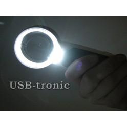 Увеличительная лупа с подсветкой 77350B линза 75 мм c 10 кратным увеличением