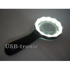 Увеличительная лупа с подсветкой ZB-7790-12 линза 80 мм x10 кратная