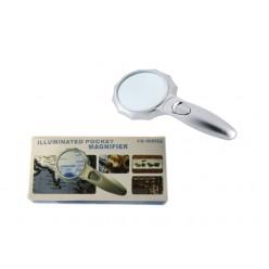 Увеличительная ручная лупа с подсветкой Magnifier TH-600556 линза 75 мм Кратность x4