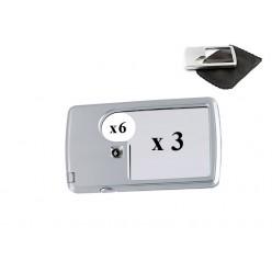 Увеличительная карманная лупа с подсветкой MG4B-3