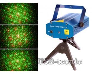 """Лазерный проектор Mini laser stage lighting """"Северное сияние"""""""