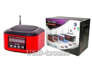 Портативная колонка WSTER WS-3188 с MP3 плеером с USB-TF входом