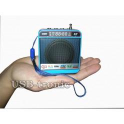 Mini колонка с радио и мп-3 плеером WS-918 Синяя