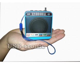 Mini радиоприемник с флешкой Синяя