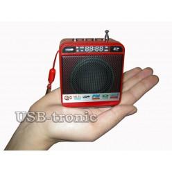 Мини колонка с радио и MP3 плеером WS-918 Красная
