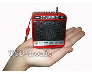 Mini радиоприемник с флешкой Red
