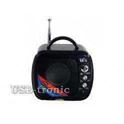 Радиоприемник с мп-3 плеером WS-575. 5 см х 5 см. Черная.