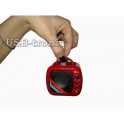 Радиоприемник с мп-3 плеером Wster WS-575 5 см х 5 см Красная