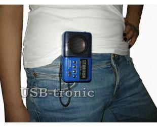 "Мини радиоприемник с MP3 плеером ""Кроха"" WSTER WS-239 Синий корпус"