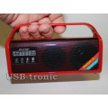 Mini радиоприемник с mp3 USB для отдыха Красная.