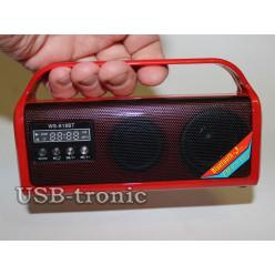 Mini радиоприемник с mp3 USB для отдыха Красная. НЕТ В НАЛИЧИИ