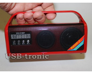 Mini радиоприемник WS-618BT с FM радиоприемником и с USB входом.