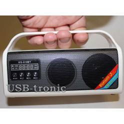 Мини радиоприемник с флешкой WS-618BT Белая