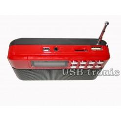 Мини радиоприемник с мп3 плеером с USB-TF входом WS-820 Красный