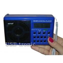 Карманный радиоприемник с usb WS-291 Синий