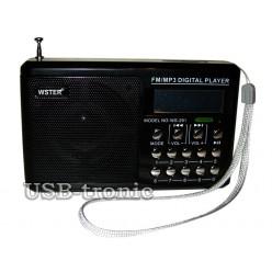 Карманный радиоприемник с usb WS-291 Черный
