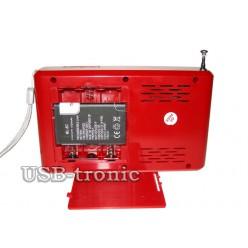 Карманный радиоприемник с usb WS-291 Красный