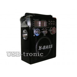 Портативный радиоприемник WAXIBA XB-1051 c радио и mp3 (Черный)