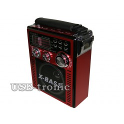 Портативный радиоприемник WAXIBA XB-1051 c радио и mp3 - Красный