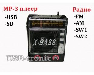 Мини радиоприемник YUEGAN YG-101ULAT с  MP3 плеером