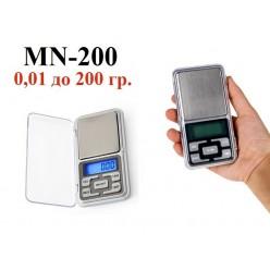 Портативные электронные весы MN-200 точность 0.01 вес до 200 грамм