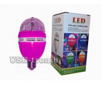 Акция! Три ярких диско лампы. Цветные RGB Led. full color rotating lamp Цветной корпус