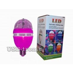 Акция Три ярких диско лампы RGB Led. full color rotating lamp Цветной корпус